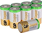 Batterien D (LR20) Mono Super Alkaline 8 Stück Monozellen im Sparpack [besonders langlebig und auslaufsicher] Markenprodukt GP Batteries