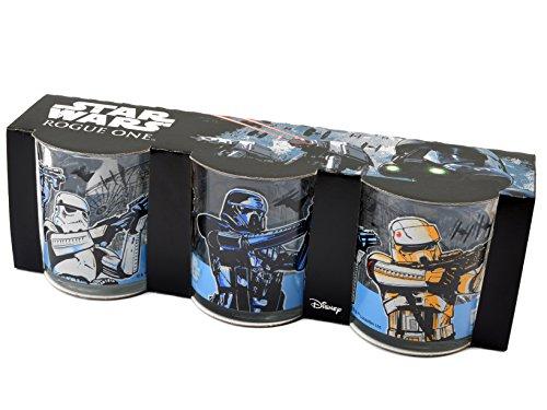 Home Star Wars Rogue 1Packung 3Gläser, Glas, transparent, 7x 7x (Home Wars Star)