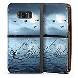 DeinDesign Samsung Galaxy S8 Leder Flip Case Tasche Hülle Birds Voegel Mond