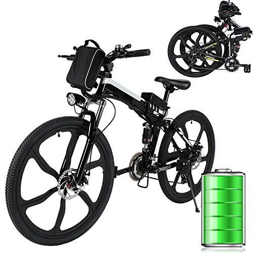 Laiozyen Bicicleta Eléctrica Plegable 250W Unisex Adulto Bicicleta eléctrica Urbana, Bici de Paseo, 8AH, batería de ión Litio de 36V,...