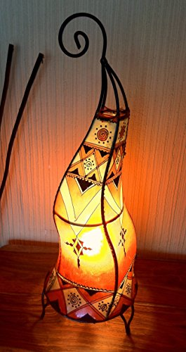 lampe-de-table-sole-au-henne-marocaine-forme-ronde-decoree-orange-60-cm