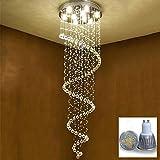 PLYY Moderne LED 5W Treppenhaus Kristallleuchter D60CM H200CM