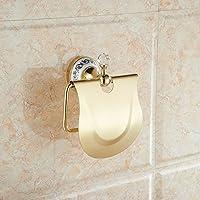 X&L Non-sucker punch oro antique WC carta titolare asciugamano rack Servizi igienici lunetta impermeabile rotoli di carta titolare