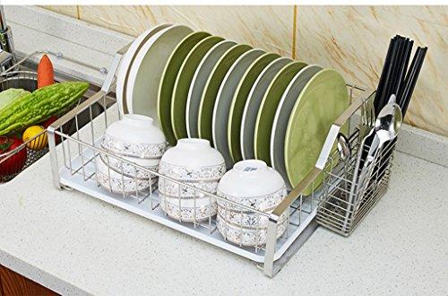 Pratique Gadgets Cuisine Bol en acier inoxydable Tablette Dish Racks multifonction Égoutter rack Cuisine Racks Bowl rack simple couche rack Dripping Bowl YYdy-Kitchen tools ( couleur : C )