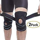 Lazzon Ginocchiera Ortopedica Menisco Rotula Tutore per Ginocchio Legamenti Crociati Regolabile Supporto Fascia Sportiva