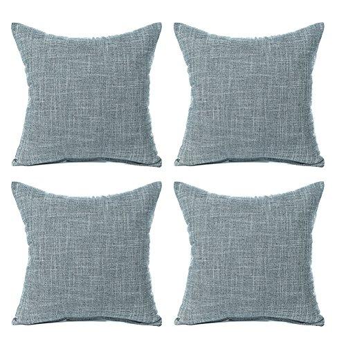 Aipark 45,7x 45,7cm classico puro lino federa cuscino decorativo covers divani letto sedie gray