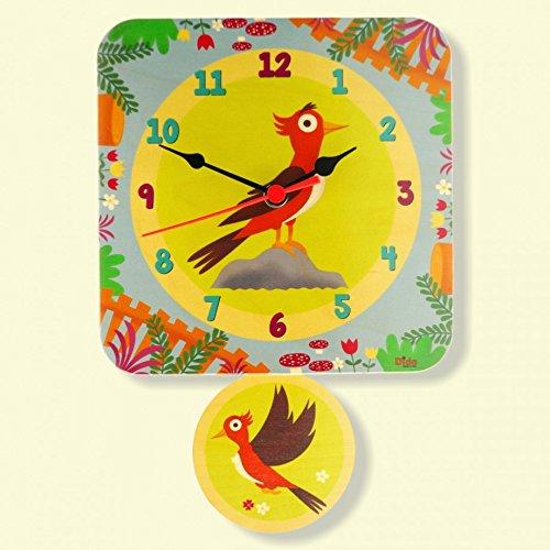 r für das Kinderzimmer, Holz, dekoriert mit einem netten Paar Spechten. (Pendelbewegung)