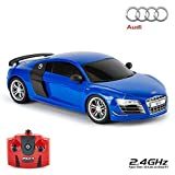 Audi R8 Gt, Offiziell Lizenziert Fernbedienung Auto für Kinder mit Funktionierendem Lichter, Ferngesteuert auf Straße RC 1:18 Modell, 2.4Ghz Blau, Großartig Spielzeug für Jungen und Mädchen