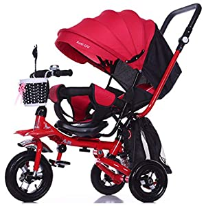 GSDZSY - 4 IN 1 Luxury Children Tricycle, Adjustable Seat, Baby Can Sit Or Lie Flat, Foldable Frame With Shock Absorber, 1-6 Years Old   13