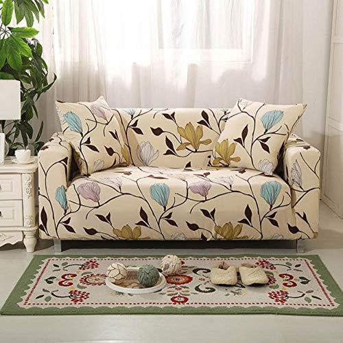 Sofa-Überwürfe Protector Sofa Abdeckung Stretch Hussen Für Sessel Für Wohnzimmer Sofa Hussen Günstige Couch Abdeckung Bunte Blütenblätter