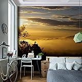 Fototapete Sonnenuntergang 396 x 280 cm - Vliestapete - Wandtapete - Vlies Phototapete - Wand - Wandbilder XXL - !!! 100% MADE IN GERMANY !!! Runa Tapete 9032012b