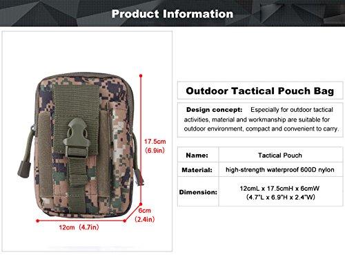 SUNVP Tactical Molle EDC Telefon Halter Tasche Taille Pack Tasche Utility Gadget Wandern Camping Pocket Jungle Camouflage