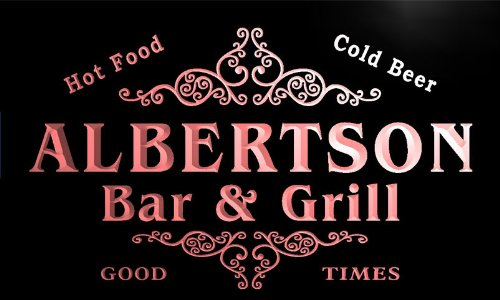 u00449-r-albertson-family-name-bar-grill-cold-beer-neon-light-sign-enseigne-lumineuse