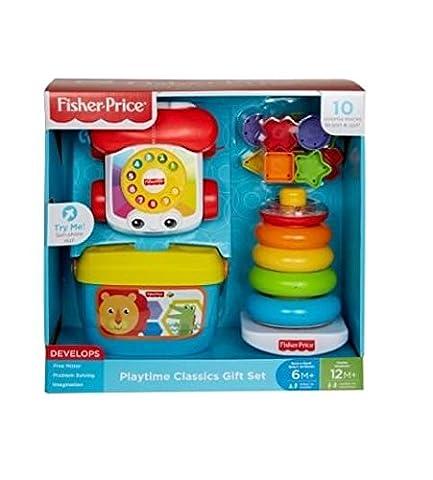 Fisher Price Classics Geschenk Set Blocks Set, Telefon und Stacker