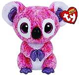TY 36149 - Kacey - Koala mit Glitzeraugen, Plüschtier, 15 cm, pink