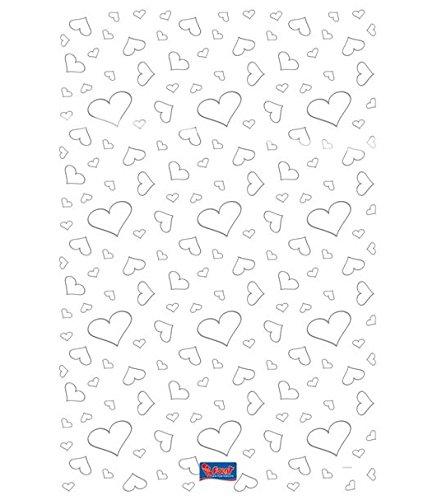 Teppich weiss mit Herzen Deko Empfangsteppich Hochzeit Deko 450x60 cm