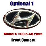 HD Frontkamera Einparkhilfe mit Nachtsicht 170° Weitwinkel Wasserdicht für IX35 IX45 IX25 Accent Azera Elantra Entourage Genesis i20 i30 i40 i45 Santa Fe Sonata Tucson Veloster (Model A= 60 mm)
