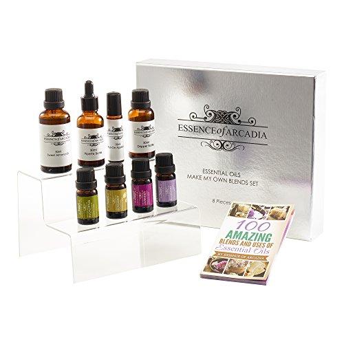 Zitronen-salbei-kerze (Essence of Arcadia-Set aus Aromatherapie-Essenzölmischungen (je 10ml))