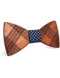 SetProducts Pajarita Madera Hombre, Ajustable - por excelencia, este accesorio te hará elegante y distinguido