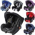 Babyschale / Babytrage für Autositz (0+ Bis 13 Kg) Inklusive Sonnendach (ROT/SCHWARZ)