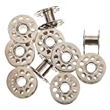 #8: PACK OF 10 Home sewing machine Bobbins WITH FREE FASHION DESIGNING TRIANGLE SCALES 2 No.'s for Home / Shop sewing machine for Singer / Usha / Sapna / Merit / Brother / Rajesh, etc.