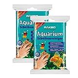 RAKSO® Glasklar Aquarium-Scheibenreiniger rostfrei Glasputzer Glasreiniger 2 Pakete