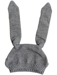 Ouneed® Kinderhut Baby Hüte Mützen,Baby Kleinkind Jungen Mädchen gestrickte Häkeln Kaninchen Ohr Beanie Winter warme Hut Kappe