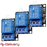 AZDelivery 3 x 1-Relais 5V KY-019 Modul High-Level-Trigger für Arduino inklusive eBook