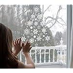 Tuopuda® Natale Vetrofanie Display Rimovibile Adesivi Murali Fai da te Finestra Decorazione Vetrina Wallpaper fiocco di neve Angeli (fiocco di neve)