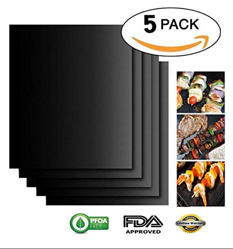 oven-liners-carryme-set-of-5-resuable-free-non-stick-heavy-duty-bbq-grill-mats-baking-cooking-sheets