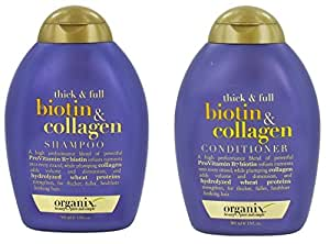 Organix Thick and Full Biotin and Collagen Shampoo& Conditioner 13 Ounce