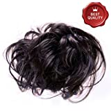53-401-09 - Elastico capelli sintetici colore Castano Scuro - Aspetto naturale - Diametro cm 15 circa e lunghezza ciuffi fino a 14 cm - Elastici fermacoda extension (Castano Scuro)