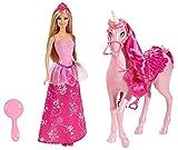 Mattel Barbie BJP46 - Prinzessin und Einhorn, Geschenkset