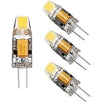 4pcs G4 Ampoule LED 2W, Blanc Chaud AC/DC 12V LED Spot Lampe,150lm 360° Angle de Faisceau, Non-Dimmable