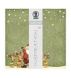 Ursus 703000144 - Premium Glitter Scrapbook paper Santa Claus, ca. 30,5 x 30,5 cm, 5 Blatt, Motiv 144