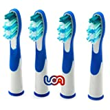 UCA® - Pack of 4 (1 x 4) Electric Toothbrush Heads Replacement for Oral B Pulsonic (SR18A-4), Compatible with: Sonic Complete, Vitality and Sonic Complete Center.