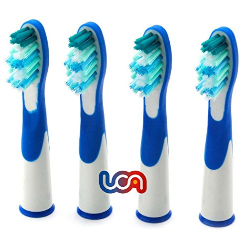 UCA® - 4 unidades(1 x 4)cabezales para cepillos de dientes(Oral B Pulsonic SR18A-4),compatibles con:Sonic Complete, Vitality Sonic y Sonic Complete Center.