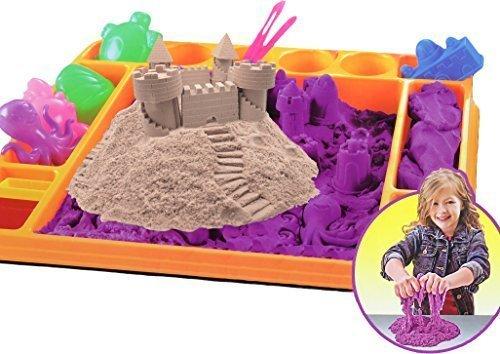*Kinetischer Sand 1,5KG mit Förmchen und Unterlage*