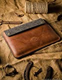 iPad Pro 12.9 inch leather case   Classic Brown, iPad 11″ iPad 10.2 sleeve 100% wool felt Apple pencil pocket/holder handmade Crazy Horse leather 2019 iPad Air 10.5 inch tablet cover Crazy Horse Craft