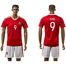 2016UEFA Euro Cup Wales 9Hal Robson Kanu Home Fußball Jersey in Rot