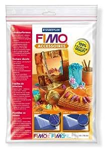 """FIMO Kit feuilles de structure """"Crocodile et Cuir de veau"""""""