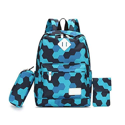 Schulrucksack Schulranzen Schultasche Sports Rucksack Freizeitrucksack Daypacks Backpack für Mädchen Jungen & Kinder Damen Herren Jugendliche mit der Großen Kapazität 3-Teiliges Set By Seasaleshop
