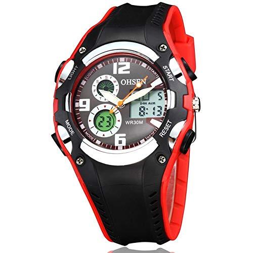 Loongur Smart-Armband-smart-Uhr-Sportuhr gut ohsen rundes zifferblatt Kalender led Display Zeiger kleines zifferblatt Design Mode männer quarzuhr mit silikonband (grau) Die neueste 2019