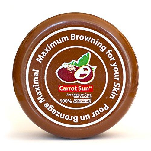 Carrot-Sun ® Kokosnuss Bräunungsbeschleuniger Bräunungscreme mit Kokosöl und L-Tyrosin für eine goldbraune und schnelle Bräunung! 350ml