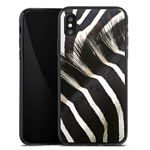 Apple iPhone 6s Tasche Hülle Flip Case Zebra dschungel Animal Print Silikon Case schwarz