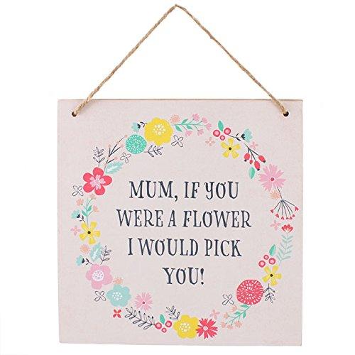 Mamma se Targa un fiore/