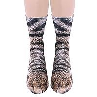 So-buts Unisex Adult Animal Paw Crew Socks - Sublimated Print
