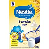 Nestlé Papilla 8 cereales Yogur, Alimento Para bebés - 600 gr