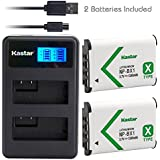 Kastar Camera Batteries (Pack Of 2) With LCD Dual Slim Charger For Sony NP-BX1 & Cyber-shot DSC-HX50V HX300 RX1 RX1R RX100 RX100 II RX100M II RX100 III RX100M3 WX300