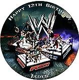 WWE Personalised Premium Rice Paper Cake Topper (7.5